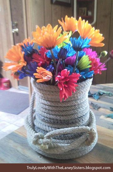 Diy centerpiece for a western themed weddingi really love the diy centerpiece for a western themed weddingi really love the rope case junglespirit Image collections