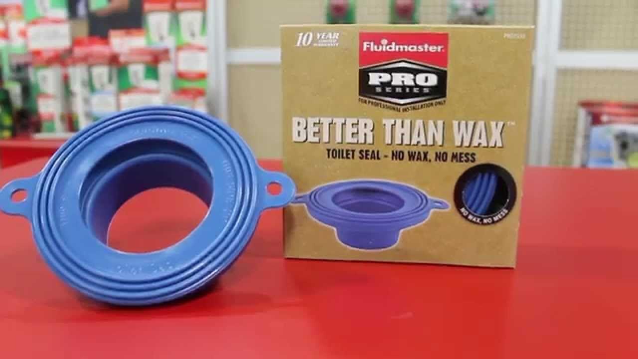 Fluidmasters better than wax waxfree toilet seal fits