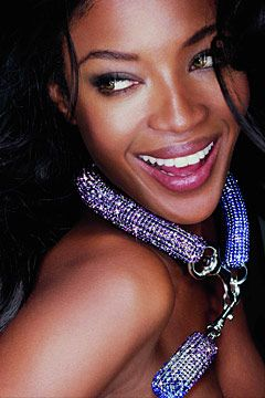 5f992f16a3a6f Naomi Campbell wears bolster necklace by Christopher Kane for Atelier  Swarovski