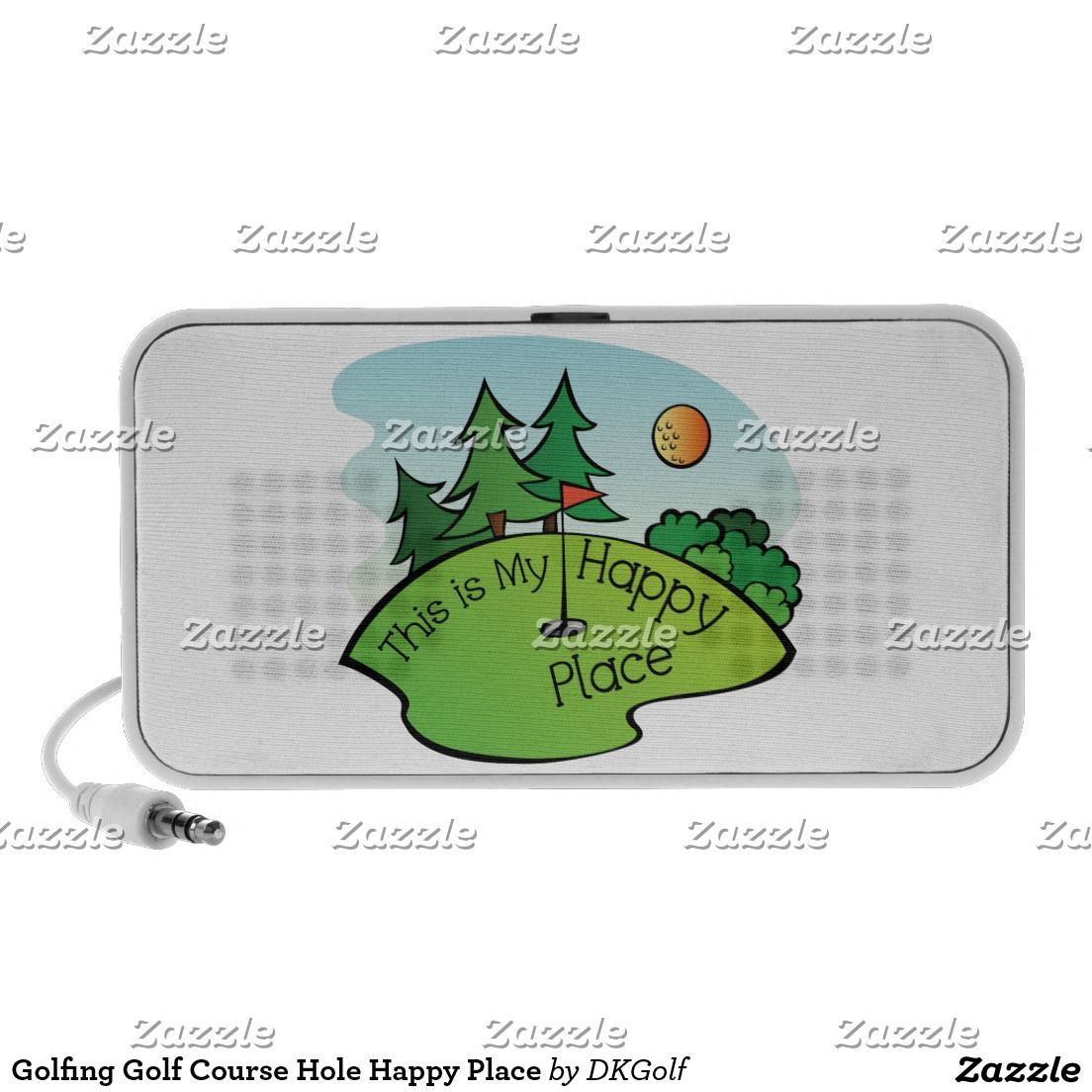 Golfing Golf Course Hole Happy Place Mp3 Speakers Dkgolf Diagram