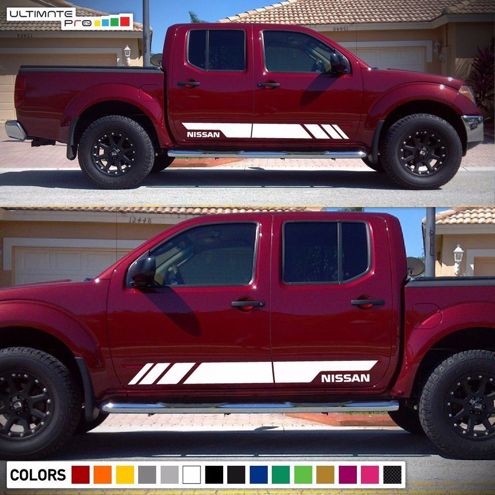 Decal sticker graphic vinyl stripe kit for nissan frontier navara tailgate guard ultimateprocy1ulti10deca15