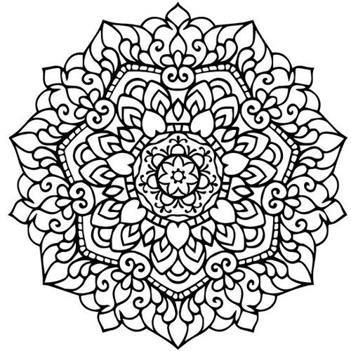 Heart Mandala Coloring Pages for Adults | Mandala Adult Coloring ...