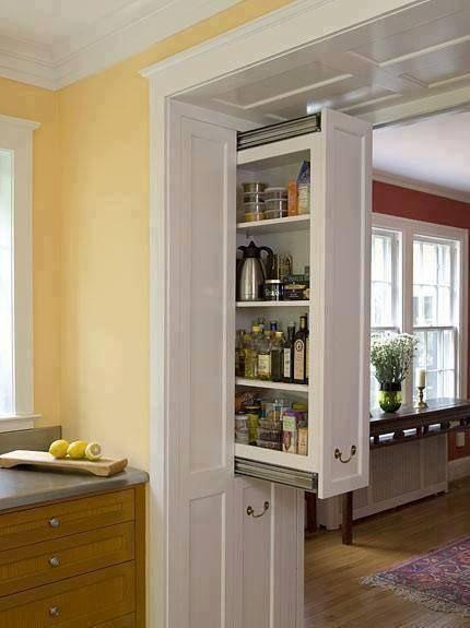pocket pantry ;) Decor Pinterest Cocinas, Casa de diseño - muebles para cocina de madera