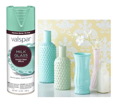 Valspars New Milk Glass Spray Paint Craft DIY Ideas - Does lowes sell spray paint