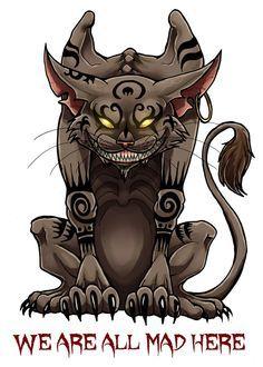 Evil alice in wonderland drawing