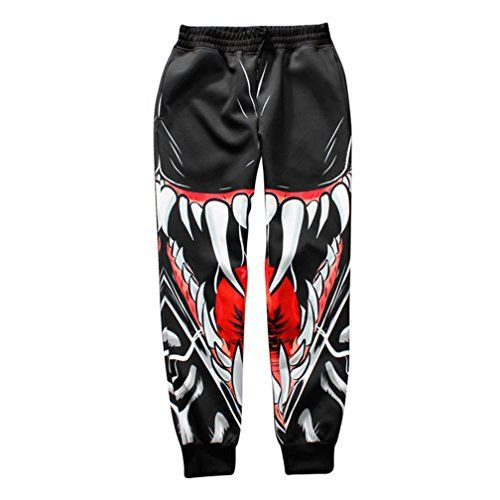 Dorathy Unisex 3D Print Big Tooth Emoji Clothes Hip Hop Trousers sport Jogger >>> Read more  at the image link.