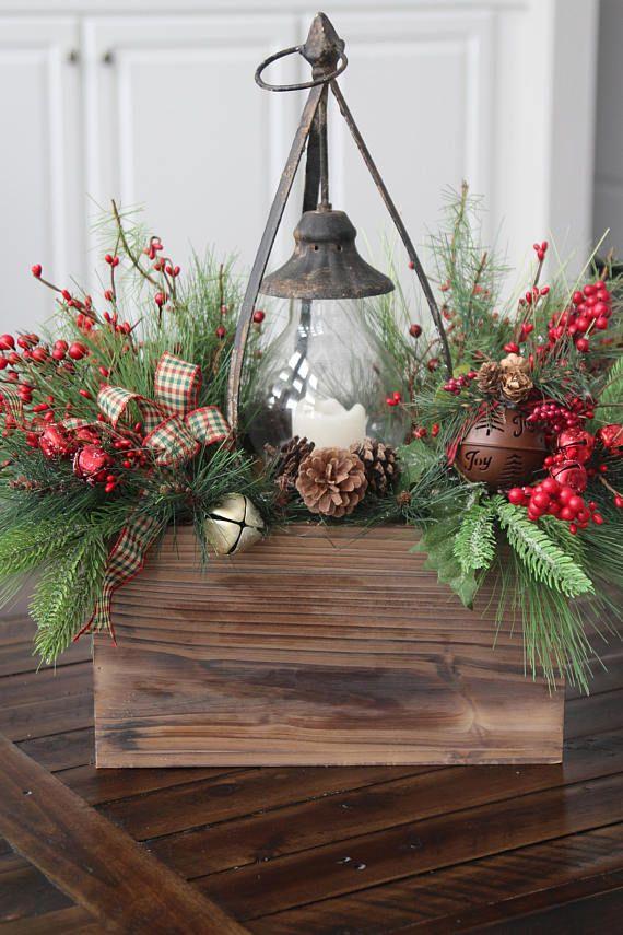 Rustic Christmas Decor Primitive Christmas Woodland Arrangement Christ Christmas Centerpieces Christmas Table Centerpieces Christmas Decorations Diy Outdoor