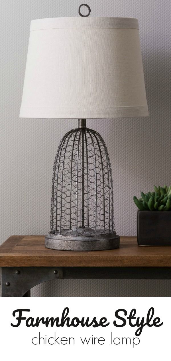 Farmhouse Style Chicken Wire Lamp - inspired by vintage cloche made ...
