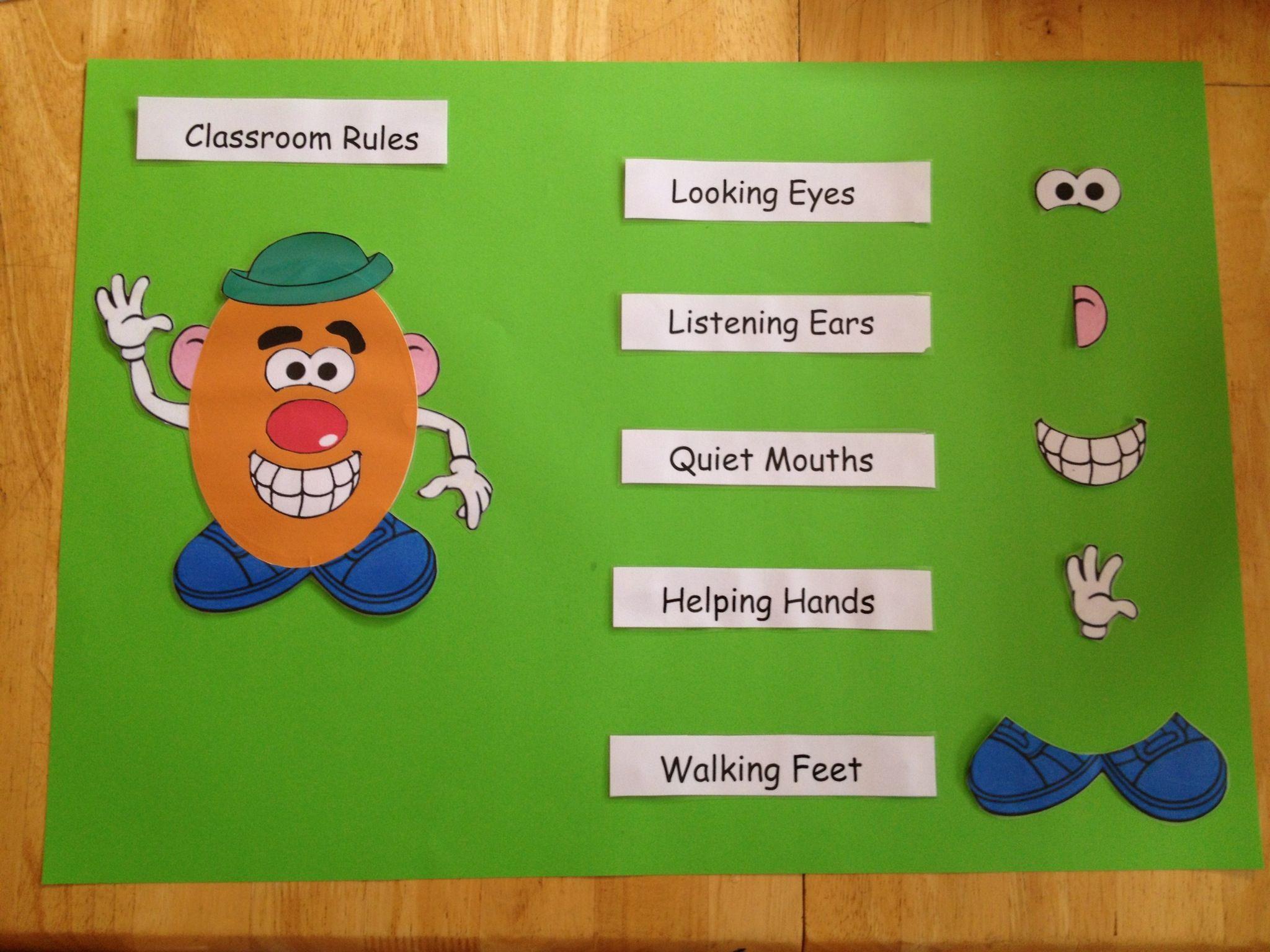 Classroom Rules - Mr Potato Head