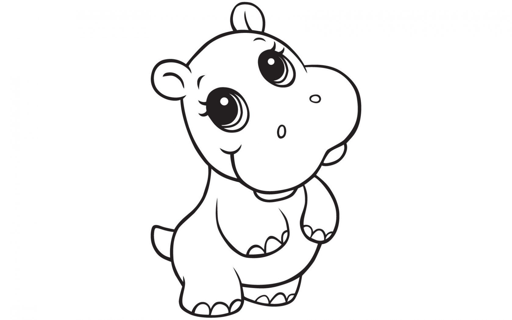 Unique Hippopotamus Page To Color Collection Printable Coloring