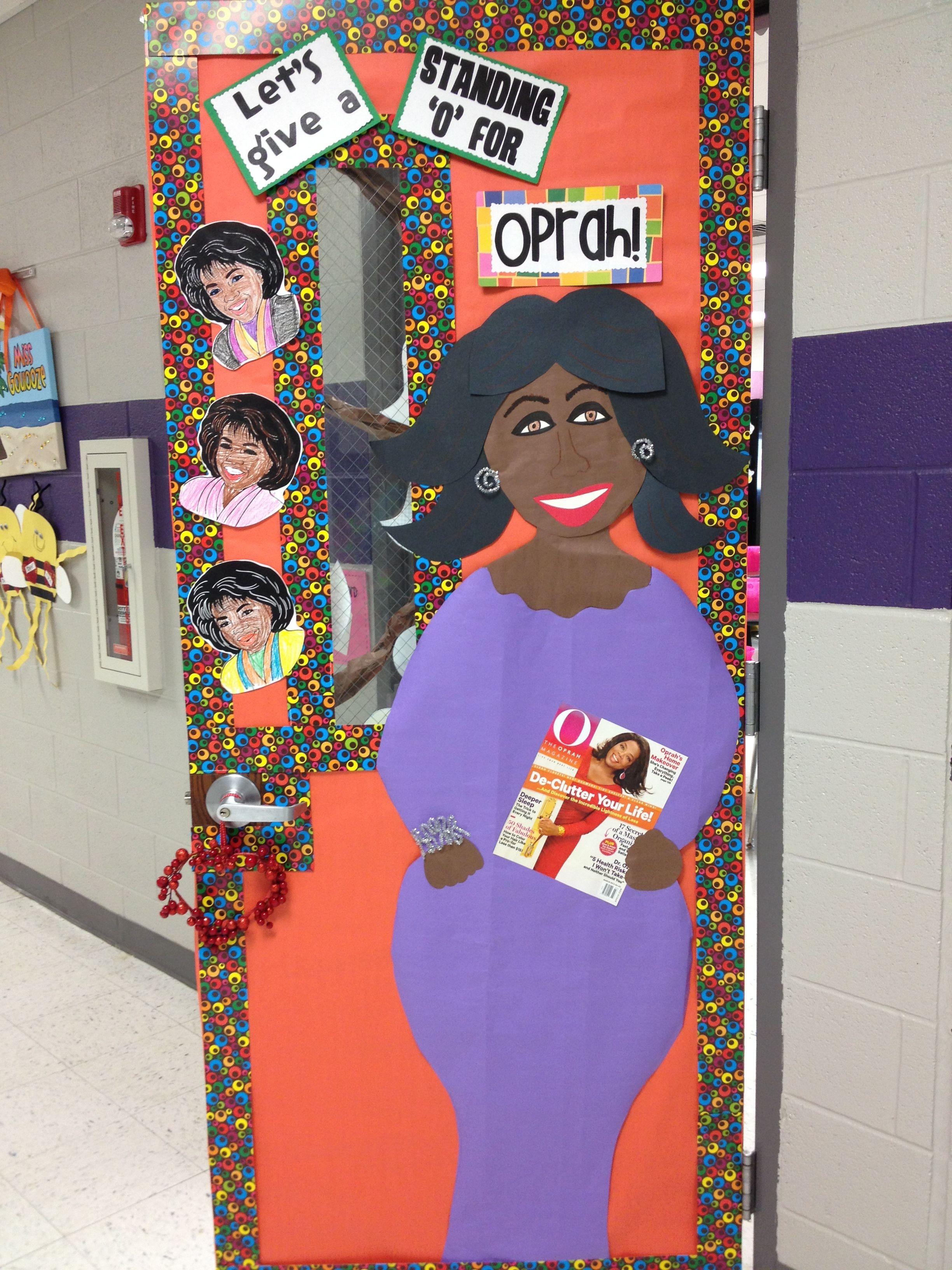 Black History Month Oprah Study Classroom Door Decor School