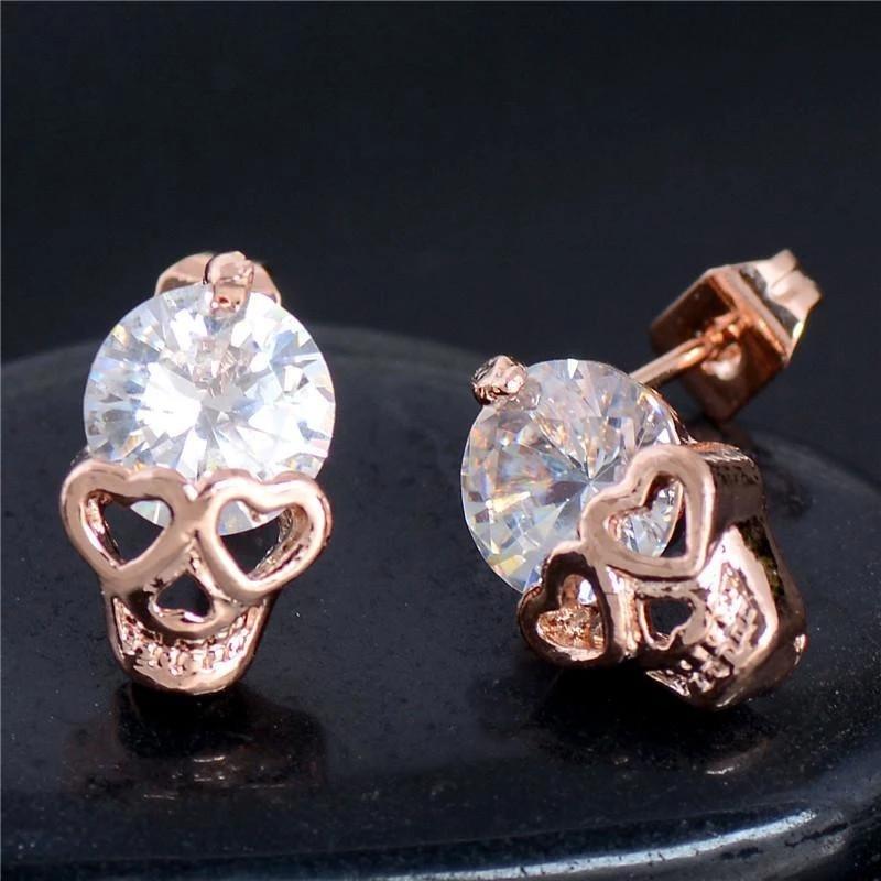 Skull Earrings Skullflow Skull earrings, Evil eye