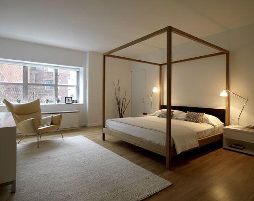 Sort Himmelseng Modern Bedroom Modern Canopy Bed Four Poster Bed