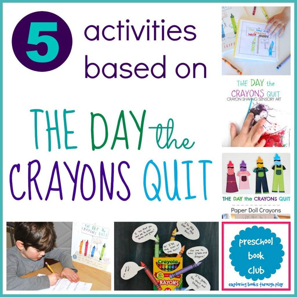 The Day The Crayons Quit Activities Preschool Books Writing