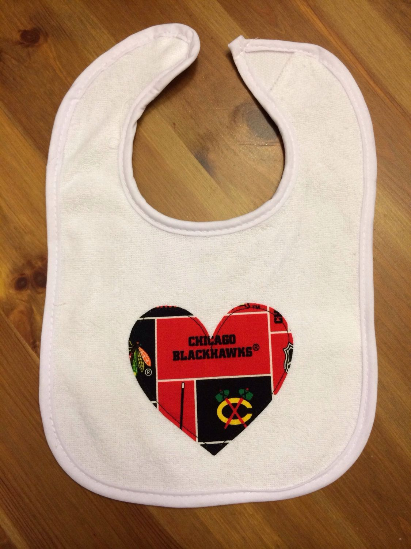 Chicago Blackhawks Heart Bib