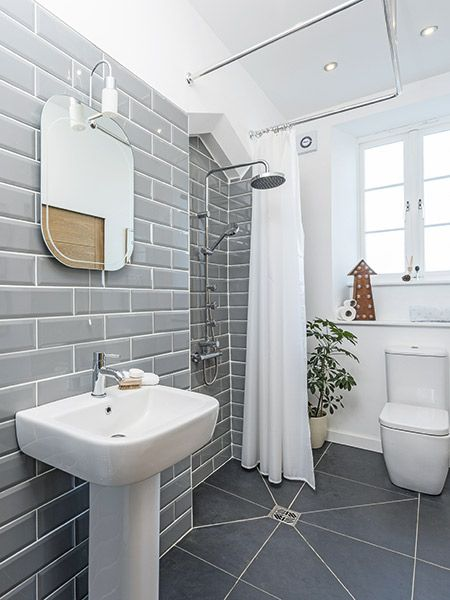 Space Saving Shower In A Small Bathroom No Screens Or