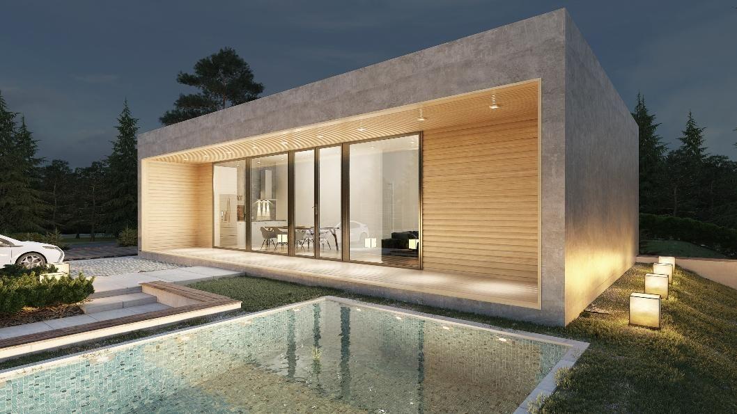 Cordoba donacasa 90m2 casas de paneles prefabricados con for Casa moderna 90m2
