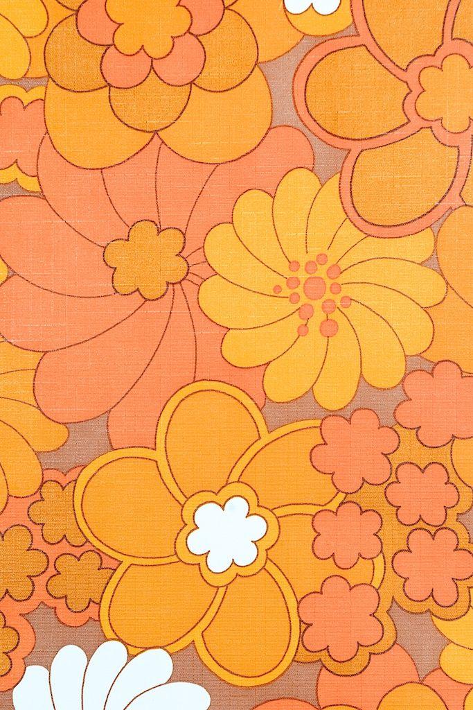 Vintage Retro Floral Vinyl Wallpaper Hippie Wallpaper Art Collage Wall Wallpapers Vintage