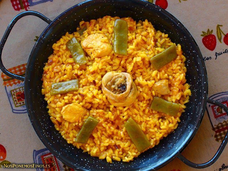 Paella Valenciana, receta tradicional D.O. http://www.nosponemosfinos.es/2014/03/paella-valenciana-receta-tradicional-do.html