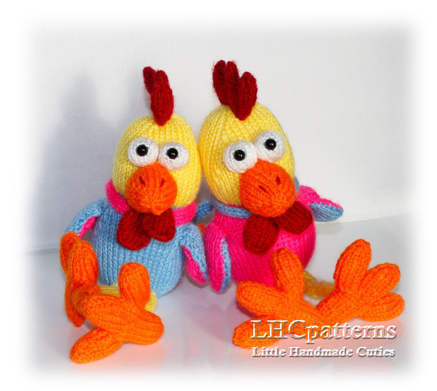 Rooster knitted toy pattern  Knitted Rooster PDF tutorial  DIY     Rooster knitted toy pattern  Knitted Rooster PDF tutorial  DIY rooster soft  toy pattern  New year symbol  2017 year symbol by LHCpatterns on Etsy