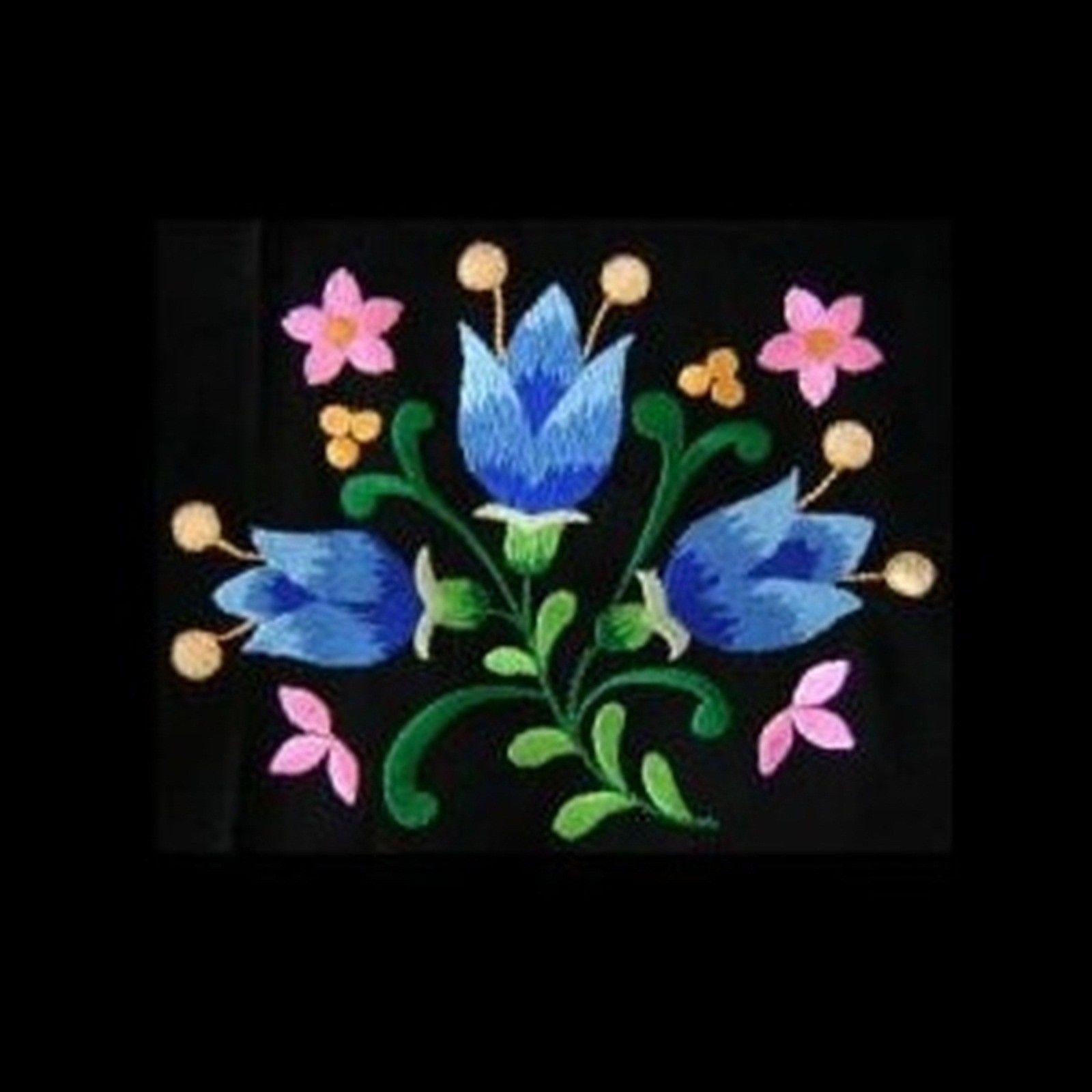 German folk art machine embroidery designs flowers you tell