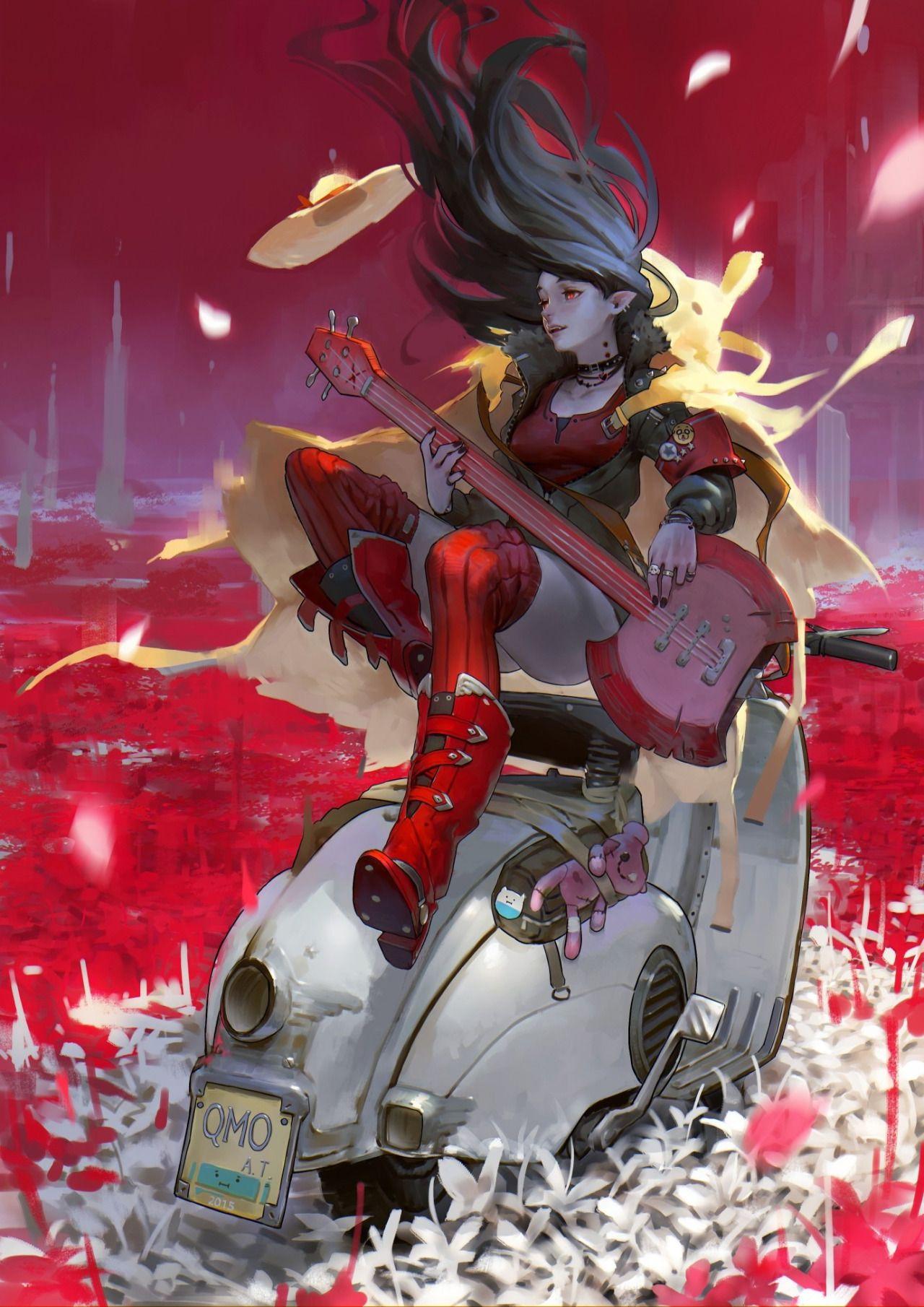 Digital Art spyrale Marceline, Asuka & Rei by 羅 光佑 in