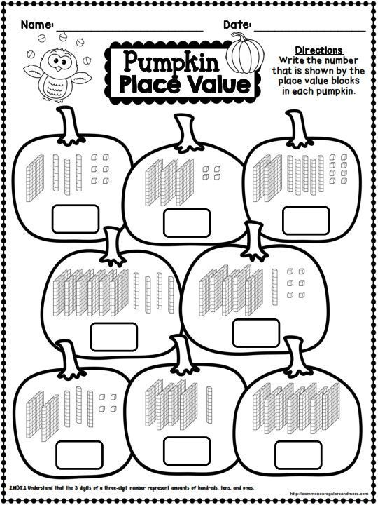 Fall No Prep Math And Literacy 2nd Grade Fall Math Second Grade Math Halloween Math Worksheets