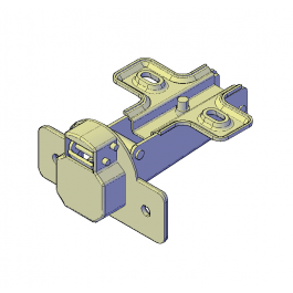 Cabinet hinge 3D DWG model | Fixings 3D CAD models | Hinges for