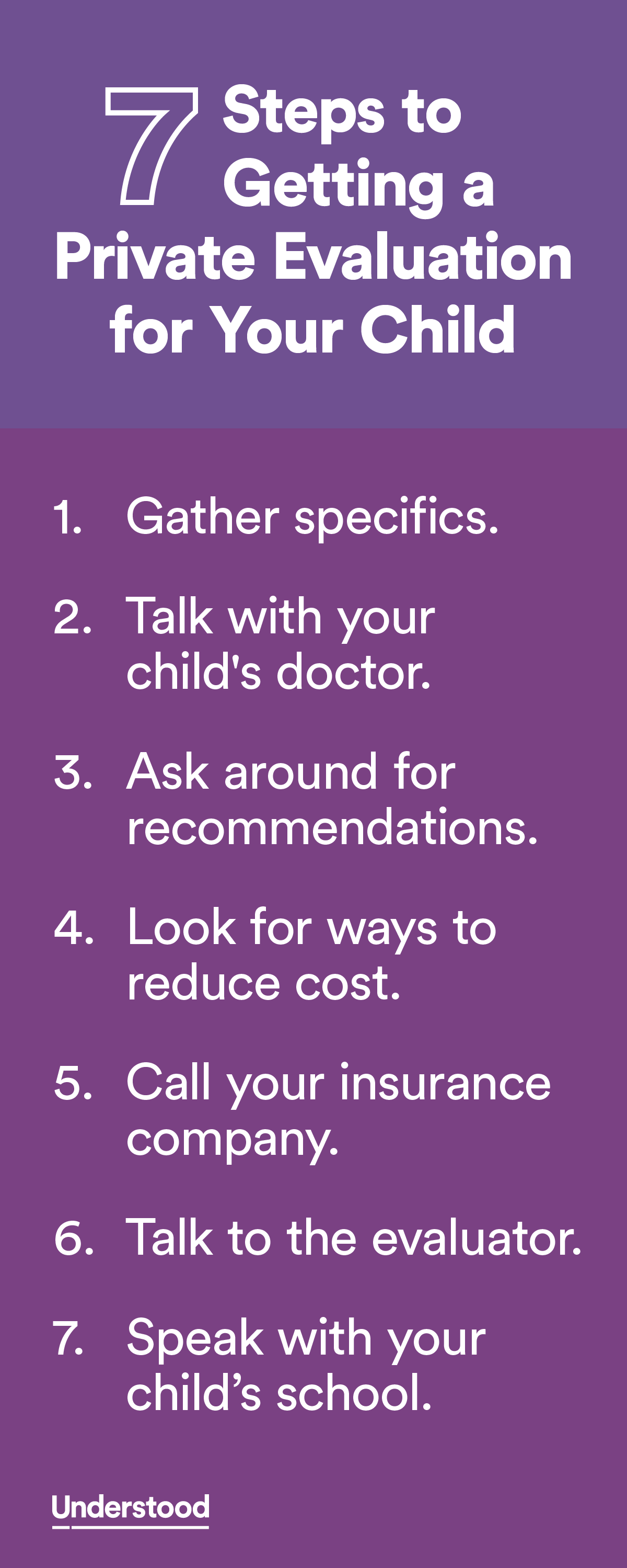 7 Steps To Getting A Private Evaluation For Your Child