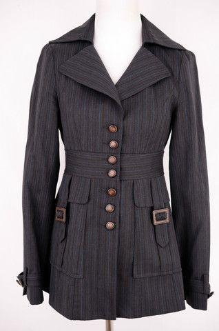 Nanette Lepore Pinstripe Jacket Size 2 by Nanette Lepore   ClosetDash