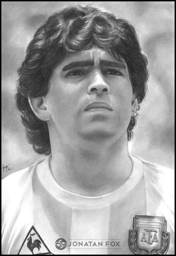 Diego Armando Maradona  Dibujo  Arte Dibujo lapiz futbolistas