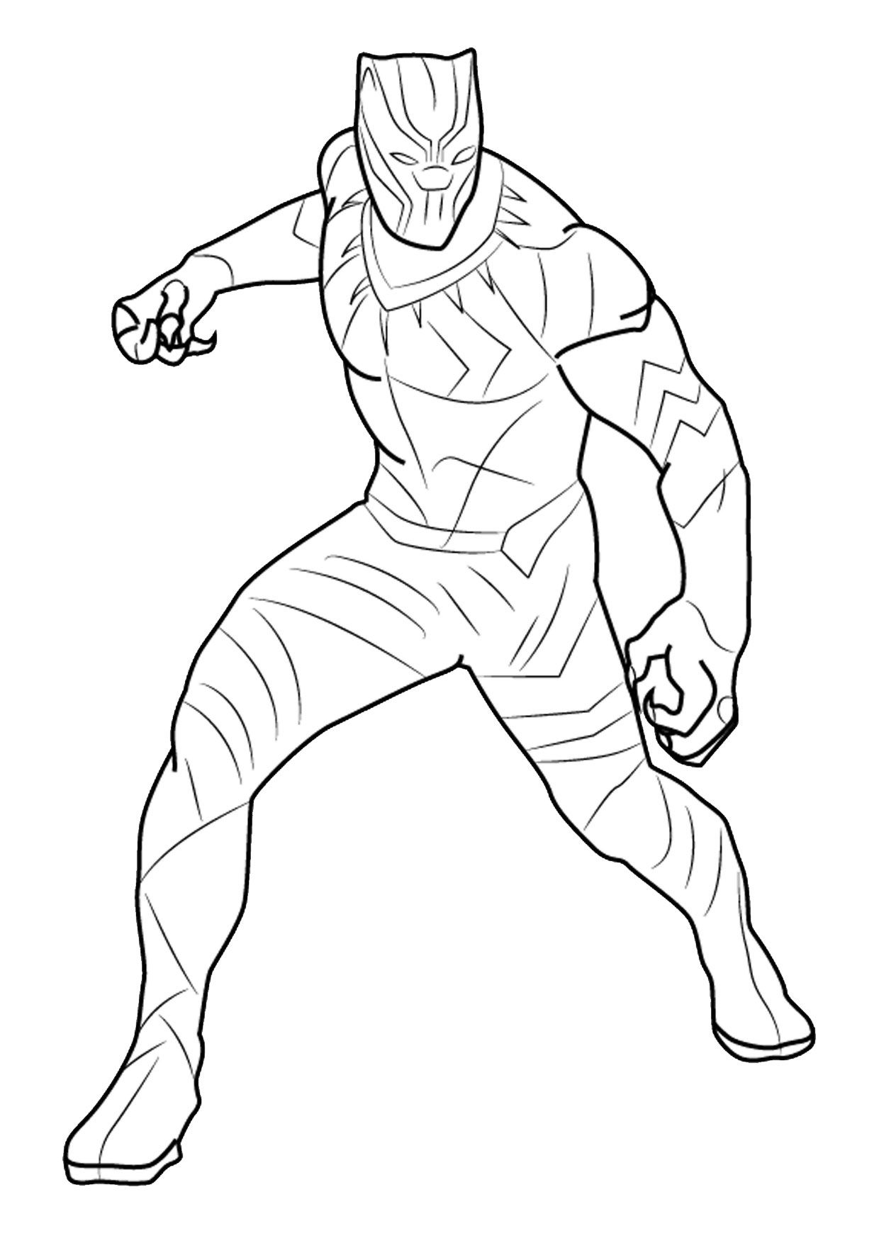 12 disegni di black panther da colorare sport disegni for Stampe da colorare spiderman