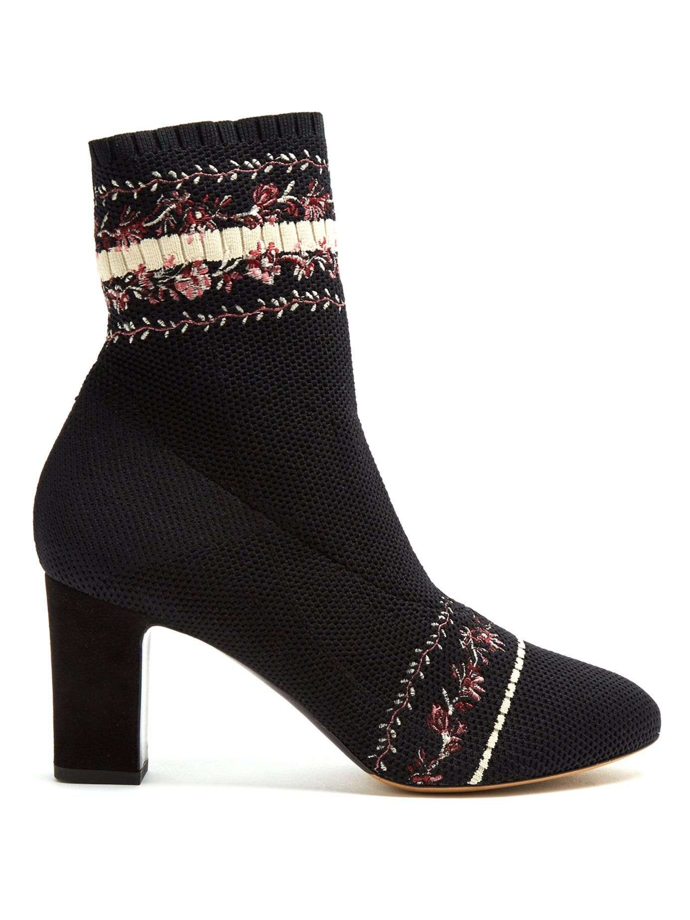 Excellent Cheap Price Tabitha Simmons Anna floral-embroidery sock ankle boot Browse Online Sale Cheap acAFNRjaXS