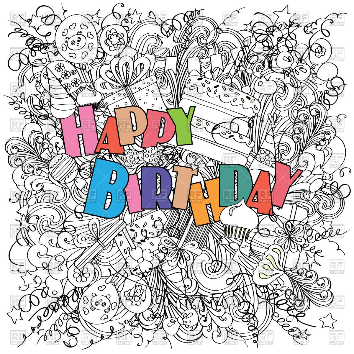 Happy Birthday Greeting Card 112332 Download Royalty Free Vector