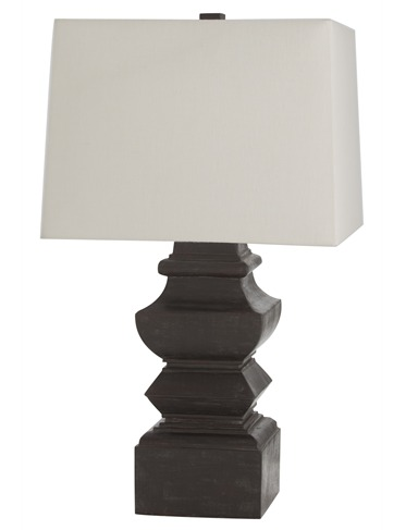 Foster Dark Walnut Carved Wood Lamp Lamp Wood Lamps Table Lamp