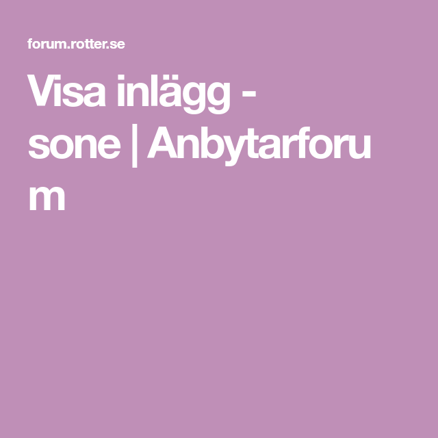 Visa inlägg niclas | Anbytarforum