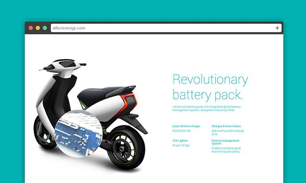 Ather Electric Scooter Website On Behance With Images Electric
