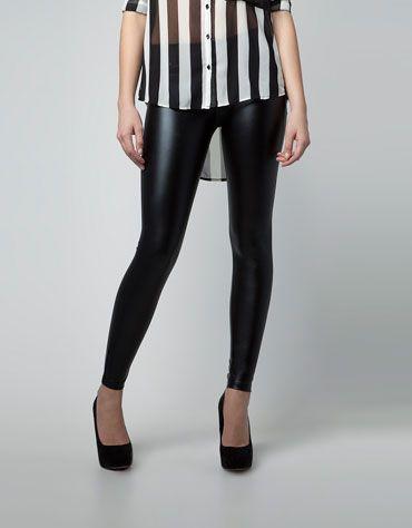 7cf9c53a54428d Bershka Serbia - Bershka vinyl leggings | Fashion | Fashion, Vinyl ...