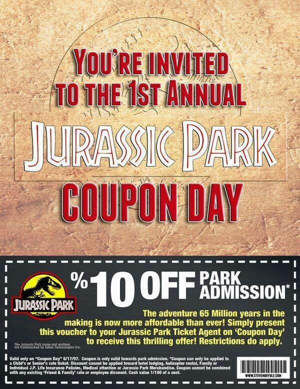 Coupon Day Good Movies Nerd Humor Jurassic Park