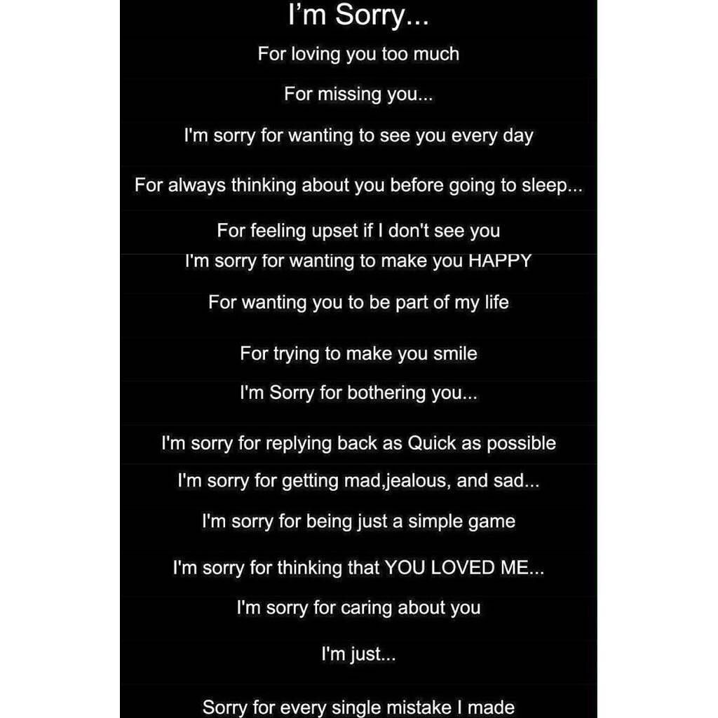I M Sorry Love Quotes For Her Im Sorryyoure Too Busy Or Maybe Im Just Not Good Enoughtruth