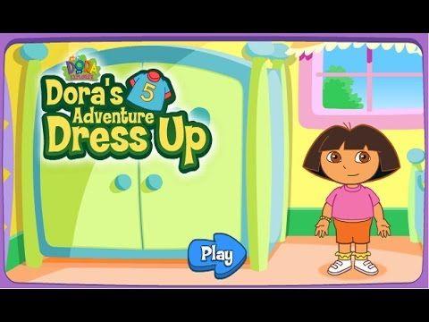 [HD] 도라 더 익스플로러 옷입히기 놀이 어린이 게임 Dora's the explorer Dress up game nickelo...
