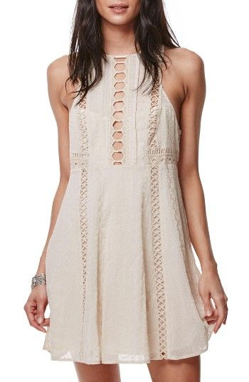 Free shipping and returns on Free People Wherever You Go Minidress at Nordstrom.com. Pretty and feminine, this dreamy fit-and-flare minidress has insets of open stitching and a flirtatious back keyhole.