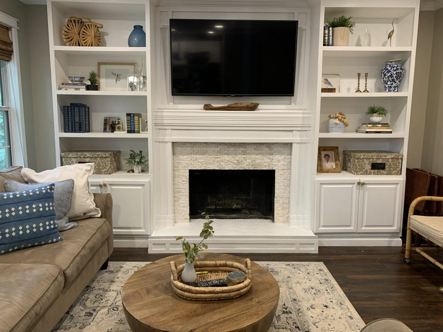 DIY Fireplace Surround and Tutorial Live Pretty on a