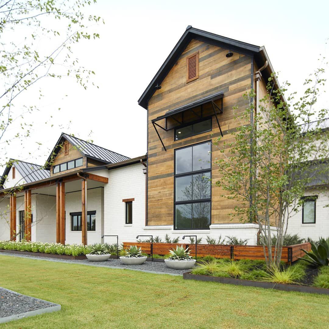 Modern Farmhouse Build With Reclaimed Barnwood Siding Bmc Design Ultra Team In 2020 Modern Farmhouse Steel Entry Doors Windows Exterior