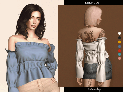 Drew Top for The Sims 4 by Serenity