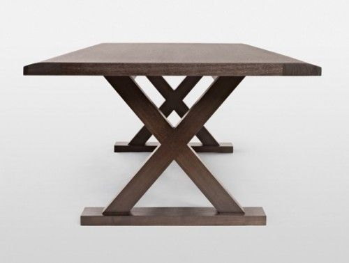 Trestle Dining Tables, Round Table Warm Springs