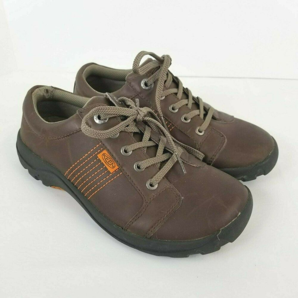 KEEN Boys Size 5 Brown Leather Oxford
