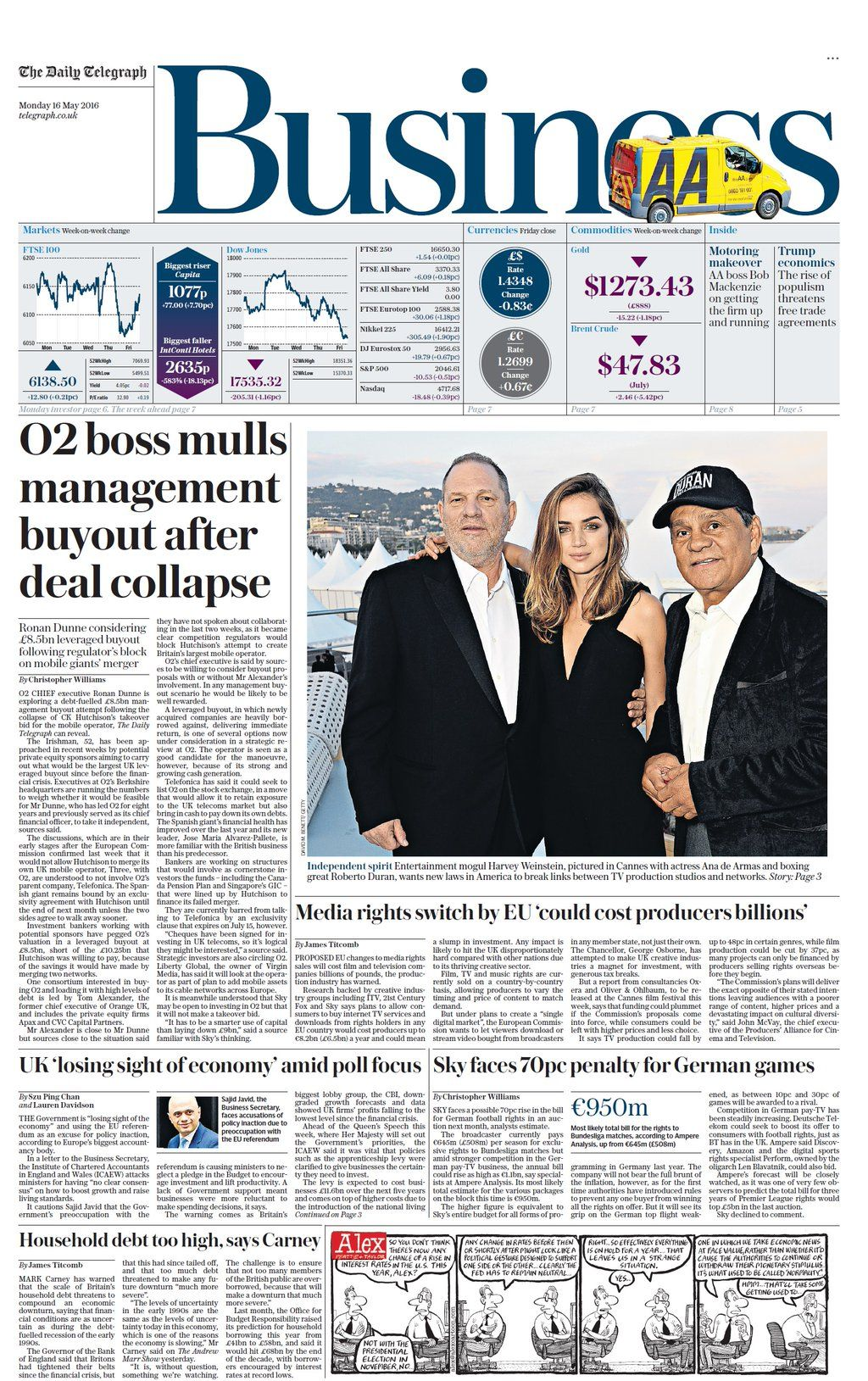 Monday's Telegraph Business: O2 boss mulls management buyout after deal collapse #tomorrowspaperstoday #bbcpapers https://t.co/gqLoqpdepd