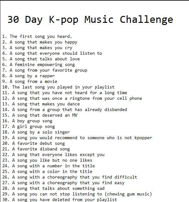 30 Day Kpop Music Challenge Challenge Day Kpop Music Music Challenge 30 Day Music Challenge 30 Day Challenge Journal