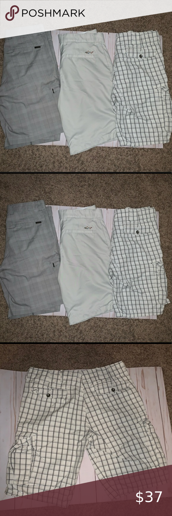 3 Pairs Of Men S Shorts Size 32 Greg Norman Levi S In 2020 Levi S Levi Greg Norman
